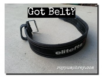 On Weight Belts and How Not to Blow out Your Back