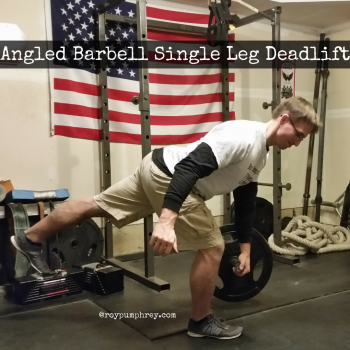 You Should Do This: Single Leg Deadlift with the Angled Barbell