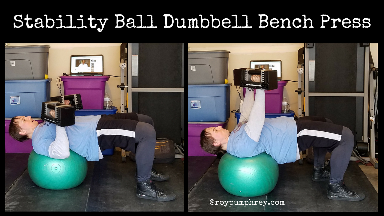 You Should Do This: Stability Ball Dumbbell Bench Press