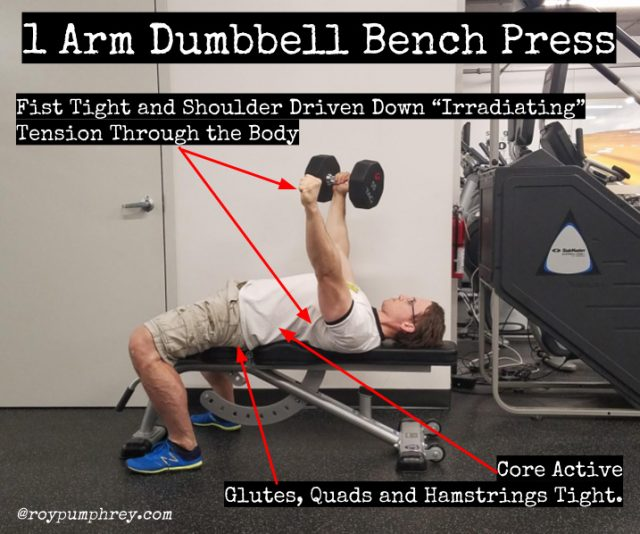 Single Arm Dumbell Bench Press: Anti-Rotation Training At It's Best: Single Arm Dumbbell